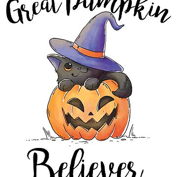 Great Pumpkin Believer - Cat with Hat by EcoKeeps