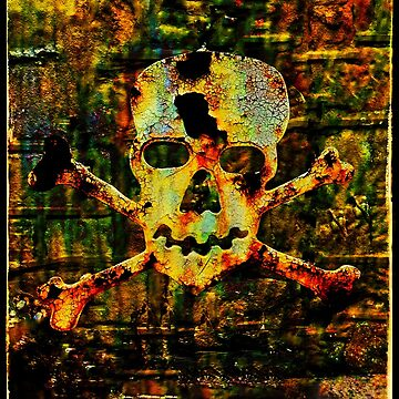corroded skull by burningark