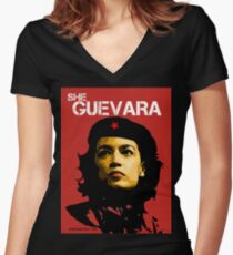 She Guevara Women's Fitted V-Neck T-Shirt