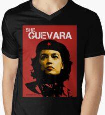 She Guevara Men's V-Neck T-Shirt
