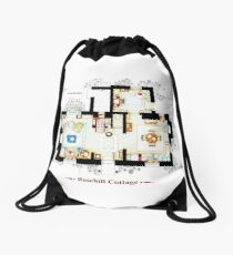 Rosehill Cottage from THE HOLIDAY - Ground floor Drawstring Bag