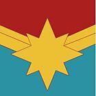 Goldener Stern mit Rot und Teal Background Horizontal von James G