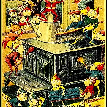 DIXONS : Vintage 1880 Stove Polish Advertising Print by posterbobs