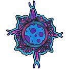 Blue and Pink Mandala Ball by TakoraTakora