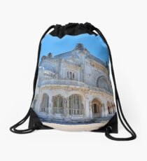 Alone By The Sea Drawstring Bag