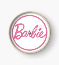Barbie Logo Clock