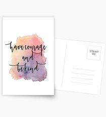 Habe Mut und sei nett Postkarten