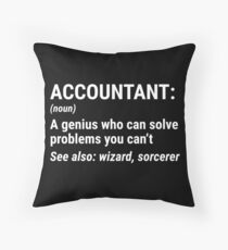 Funny Accountant Definition Solve Problems T-shirt Throw Pillow