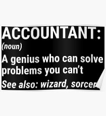 Funny Accountant Definition Solve Problems T-shirt Poster