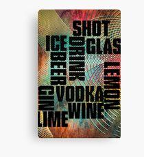 Drink text Canvas Print