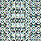Moroccan Ceramic Tiles Mosaic by Anna Lemos
