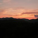 Sunset on the Blue Ridge Mountains by Adria Bryant