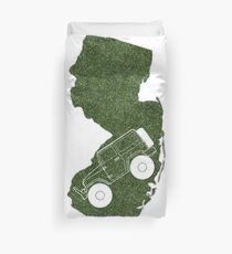 Jeep State NJ Green Duvet Cover