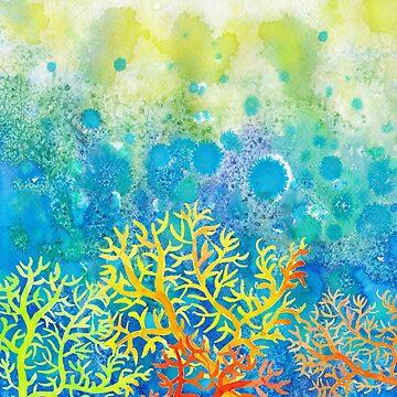 Underwater ocean corals by AgniArt