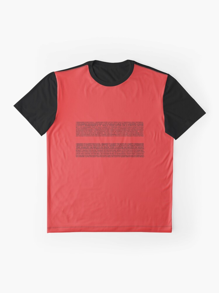 Alternate view of Strat monologue  Graphic T-Shirt