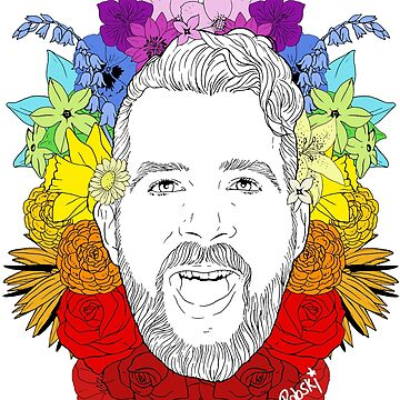 Jonny McGovern Floral Pride by RobskiArt