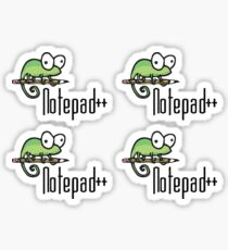 Notepad++ x4 Sticker