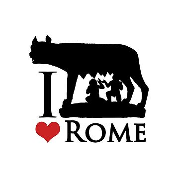 I Love Rome Graphic Icon by DFLCreative