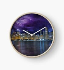Spacey Chicago Skyline Clock