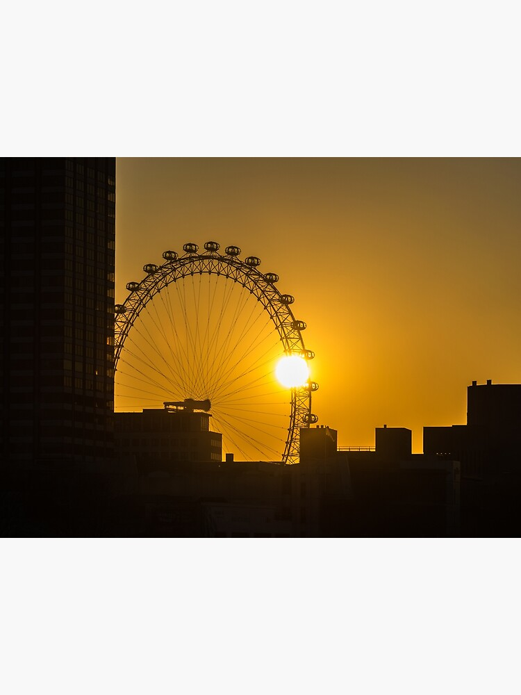 Sunset and the London Eye by tdphotogifts