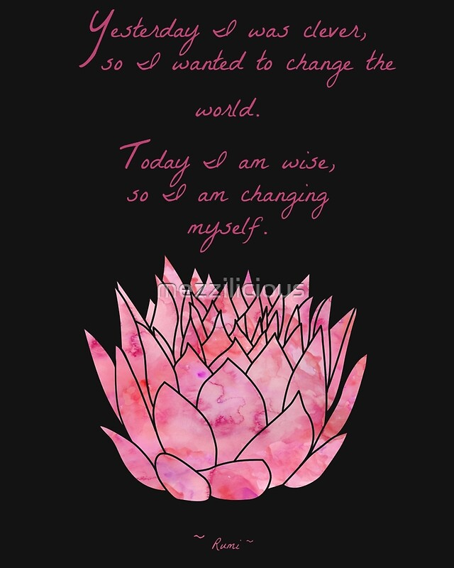 Lotus Flower - Rumi Quote - Inspirational | Art Print