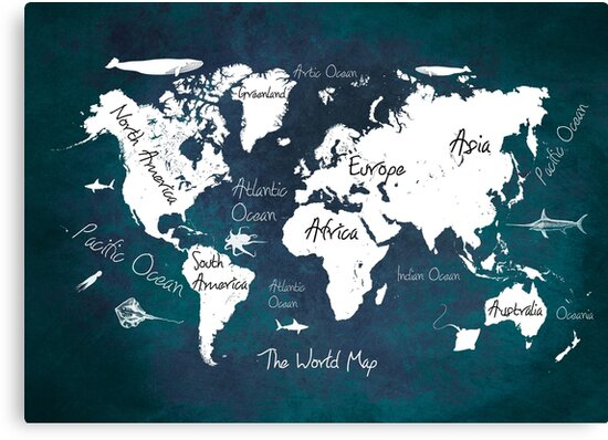 world map blue #map #worldmap by JBJart