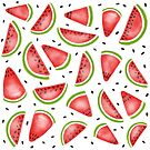 Watermelon Slices by whittledesign