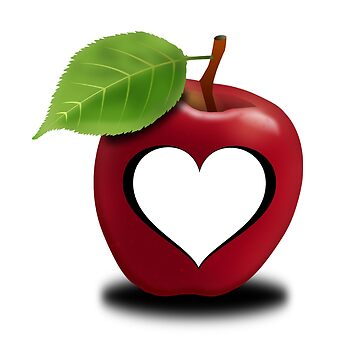Apple heart transparent by Palme-Solutions