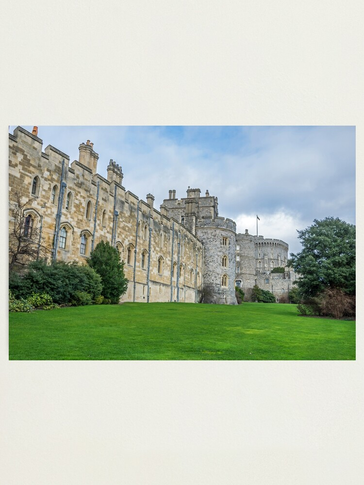 Alternate view of Windsor Castle from outside the gates Photographic Print