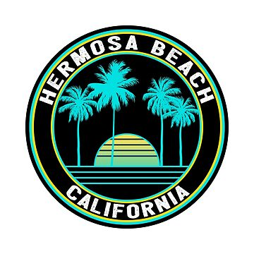 HERMOSA BEACH CALIFORNIA SURF OCEAN SURFING SURFER SURFBOARD  by MyHandmadeSigns