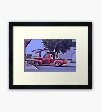 San Jacinto on Moody Blue Framed Print