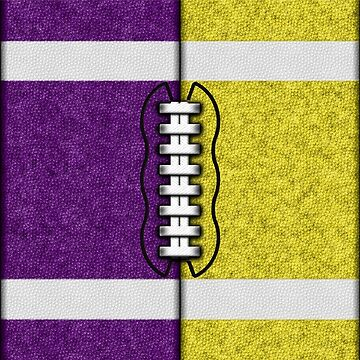 Purple and Yellow Fantasy Football Team MVP by OldGlory