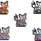 Pixelart brown cat sticker by ButtercupSaiyan