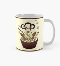 """Davenport Johnson """"Monkey Washing Cat"""" Mug Mug"""