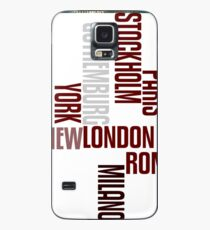 cities text Case/Skin for Samsung Galaxy