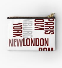 cities text Studio Pouch