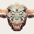 Flower Bull by Elisabeth Fredriksson