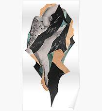 Abstract Brocken Island Planet Poster