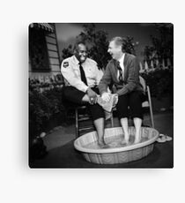 Candid Photo of Mr Rogers and Officer Clemmons Canvas Print