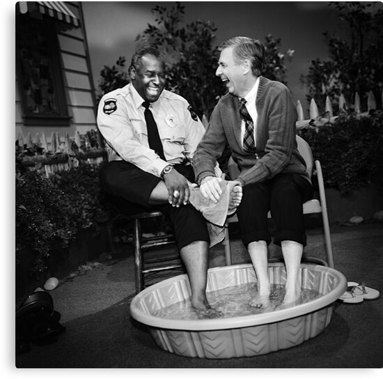 Candid Photo of Mr Rogers and Officer Clemmons by fixedgearnyc