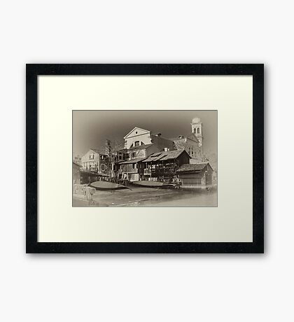 Where Gondolas Born Framed Print