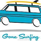 Eurovan Gone Surfing by Frank Schuster