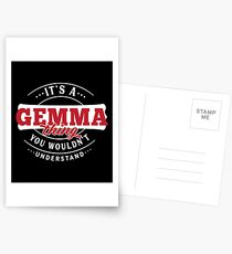 It's a GEMMA Thing You Wouldn't Understand Postcards