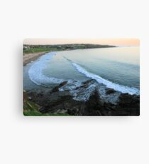 Hallett Cove, S.A. from the cliffs at sunset. Canvas Print