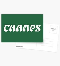 Philly Champs retro font 2 Postcards