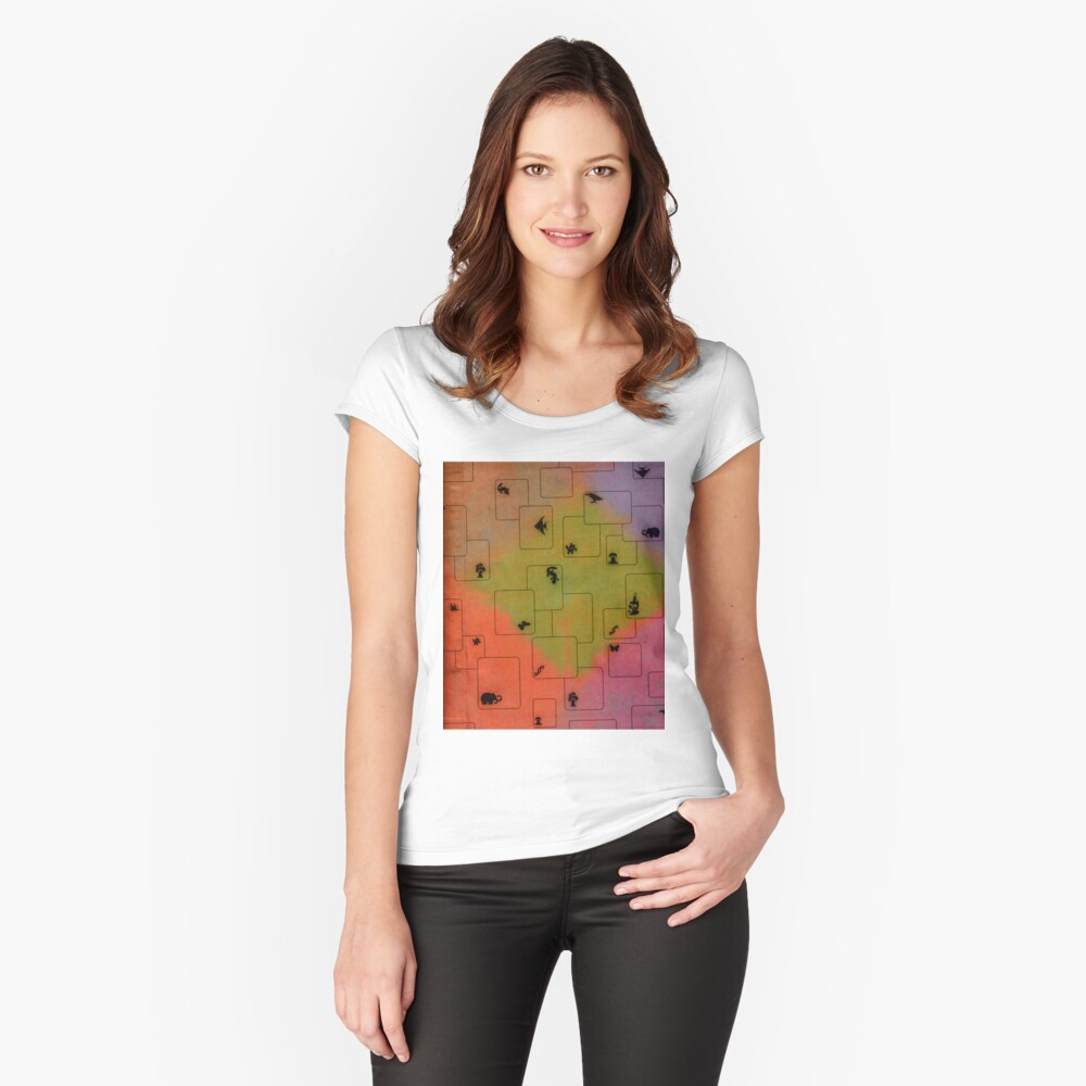 texture Women's Fitted Scoop T-Shirt Front