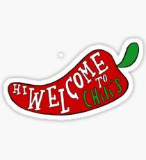 Welcome to Chilis VINE Sticker