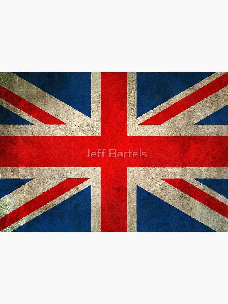 Old and Worn Distressed Vintage Union Jack Flag by JeffBartels
