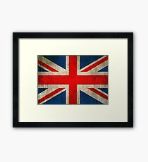 Old and Worn Distressed Vintage Union Jack Flag Framed Print