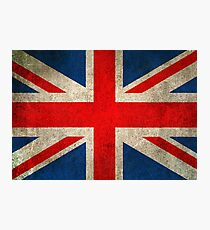 Old and Worn Distressed Vintage Union Jack Flag Photographic Print